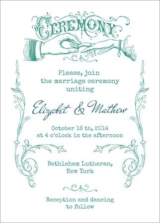 Photo pour Wedding Vintage Invitation Card - in vector - image libre de droit