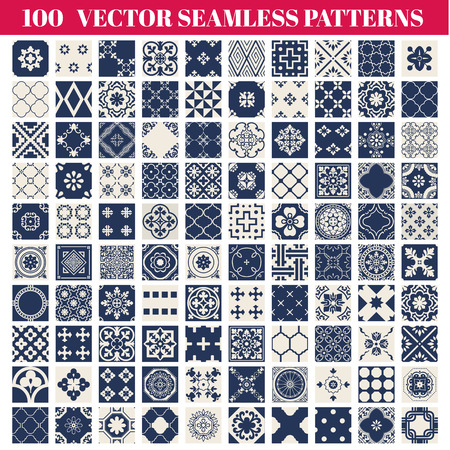 Photo for 100 Seamless Patterns  Collection - for design and scrapbook  - Royalty Free Image