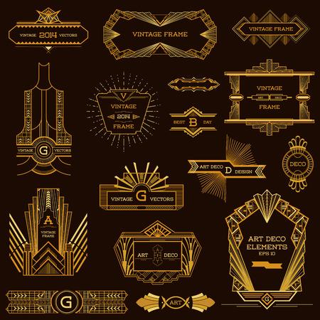 Illustration pour Art Deco Vintage Frames and Design Elements - in vector - image libre de droit