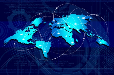 Concept of global business/connections