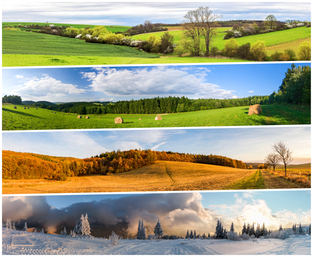 Photo for Four season nature collage from horizontal banners. All used photos belong to me. - Royalty Free Image