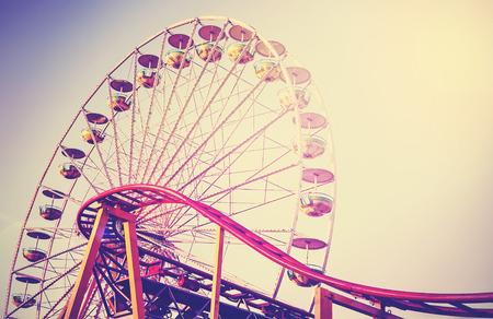 Foto de Retro vintage instagram stylized picture of an amusement park. - Imagen libre de derechos
