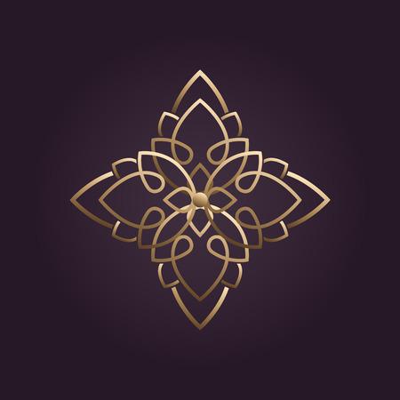 Illustration pour lotus flower logo vector - image libre de droit