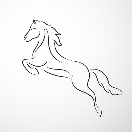 Illustration pour Horse logo - image libre de droit