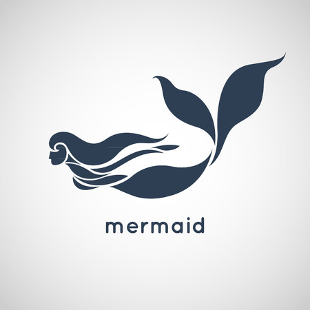 Illustration for mermaid logo vector - Royalty Free Image