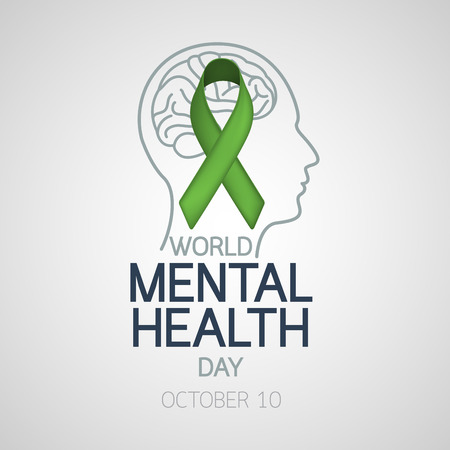 Photo pour World Mental Health Day vector icon illustration - image libre de droit
