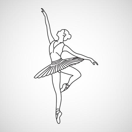 Illustration pour Ballet vector icon illustration - image libre de droit
