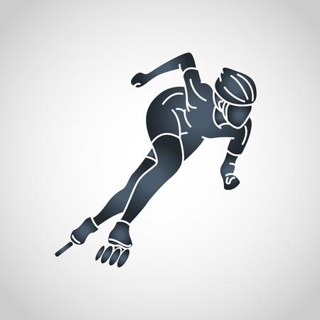 Ilustración de Roller sports vector icon illustration - Imagen libre de derechos