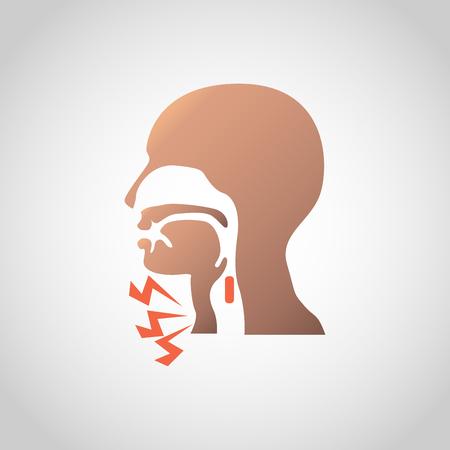 Ilustración de Difficulty swallowing icon design. Vector illustration. - Imagen libre de derechos