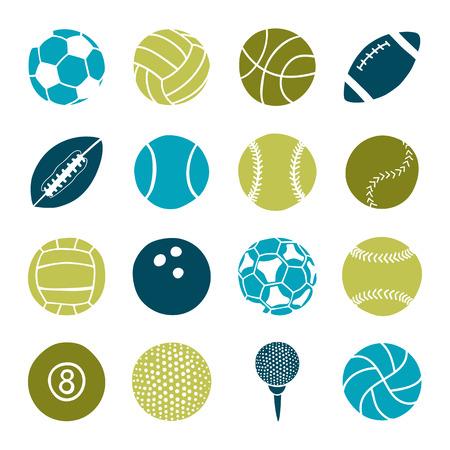 Ilustración de set of sports balls - Imagen libre de derechos