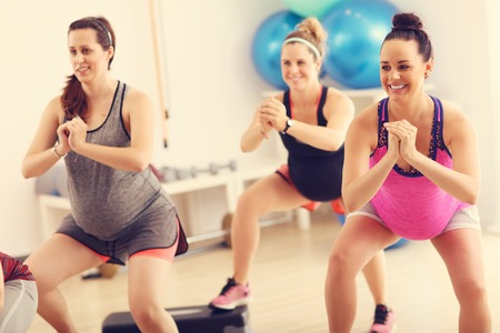 Photo for Group of pregnant women during fitness class - Royalty Free Image