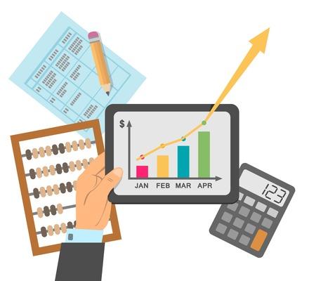 Ilustración de Successful financial business plan report concept vector illustration - Imagen libre de derechos