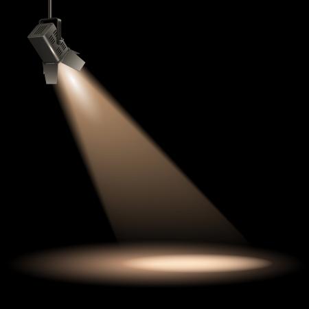 Ilustración de Stage lighting spot vector illustration - Imagen libre de derechos