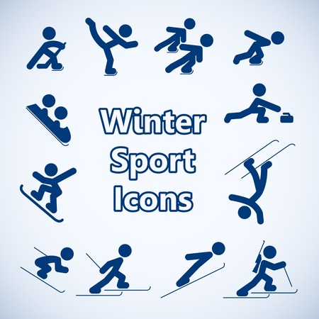Illustration pour Winter sports icons set isolated vector illustration - image libre de droit