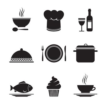 Illustration pour Collection of restaurant design elements for menu isolated illustration - image libre de droit