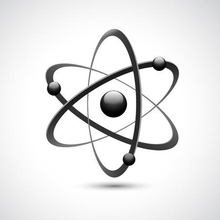 Illustration pour Atom 3d abstract physics science model symbol illustration - image libre de droit
