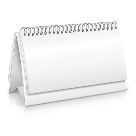 Illustration pour Empty blank spiral desk business calendar mockup vector illustration - image libre de droit
