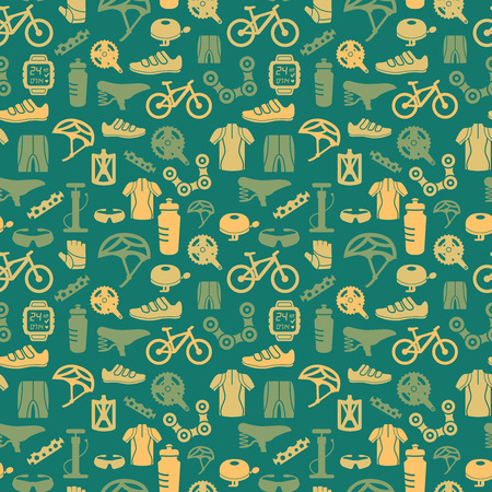Illustration pour Bicycle bike sport fitness seamless pattern background vector illustration - image libre de droit