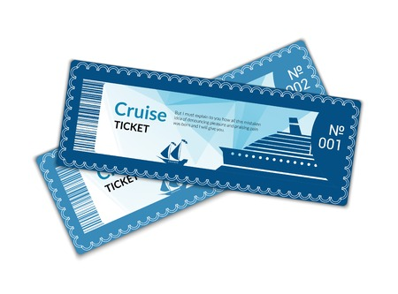 Illustration pour Ship cruise tickets set isolated on white background illustration - image libre de droit