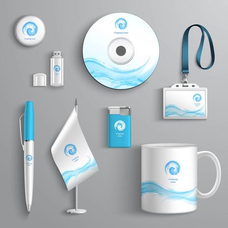 Foto de Corporate business identity stationery design elements template isolated vector illustration - Imagen libre de derechos
