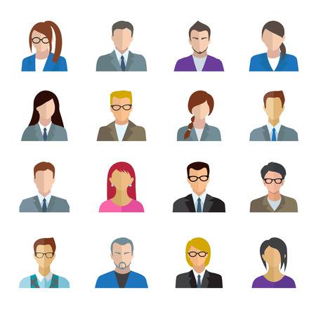 Illustration pour Office worker business personnel avatar icons set isolated vector illustration - image libre de droit