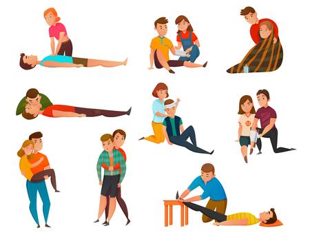 Ilustración de Educative cardiac arrest assistance program - Imagen libre de derechos
