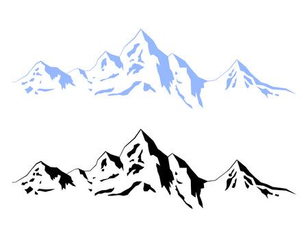 Illustration pour Illustration – Winter mountains - image libre de droit