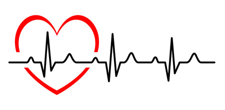 Ilustración de Illustration - Abstract heart beats cardiogram - Imagen libre de derechos