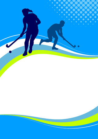 Illustration pour Illustration - Hockey sport poster - image libre de droit