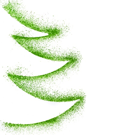 Foto de Christmas tree drawing decor with copy space isolated on white paper background - Imagen libre de derechos