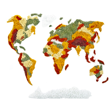 World Map of spices and herbs