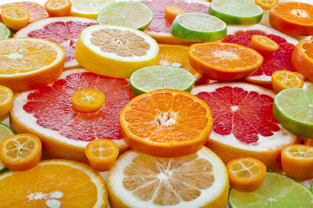 Photo for slices citrus top view close up - Royalty Free Image