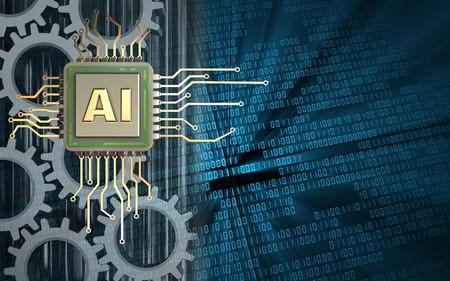 Foto de 3d illustration of  over binary background with gears - Imagen libre de derechos