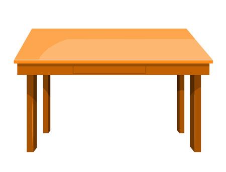 Ilustración de Wooden table isolated illustration on white background - Imagen libre de derechos