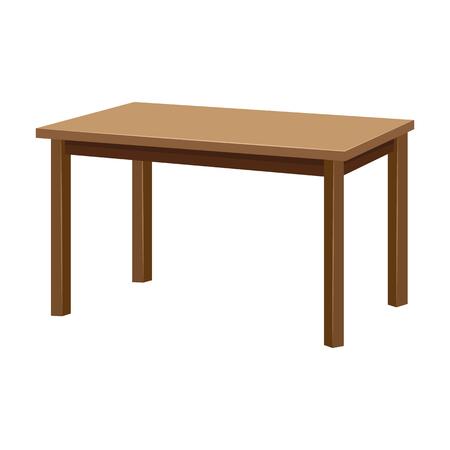 Illustration pour Wooden table isolated illustration - image libre de droit