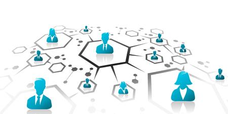 Ilustración de Abstract illustration of business network grid - Imagen libre de derechos