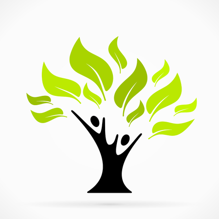 Illustration pour Abstract illustration   with green tree of life - image libre de droit