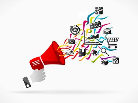 Ilustración de Digital marketing - Imagen libre de derechos