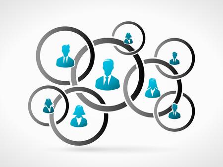 Ilustración de Business organization team. Human people icon silhouette - Imagen libre de derechos