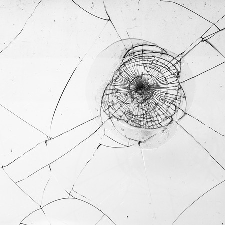 Foto de fragmented window pane in black and white for texture works - Imagen libre de derechos