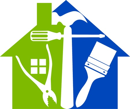 Illustration art of a home tools with isolated background