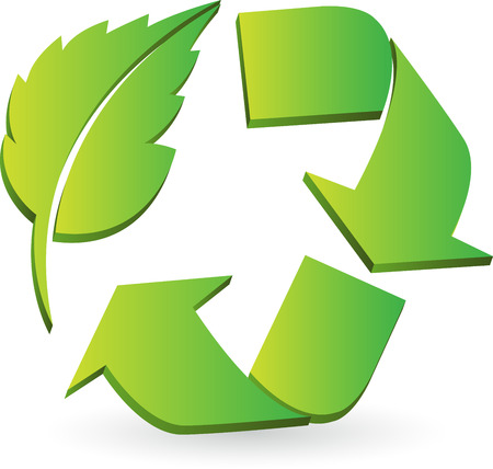 Illustration for Illustration art of a Eco recycle logo with isolated background  - Royalty Free Image
