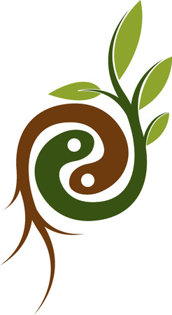 Illustration pour Illustration art of a plant root logo with isolated background - image libre de droit