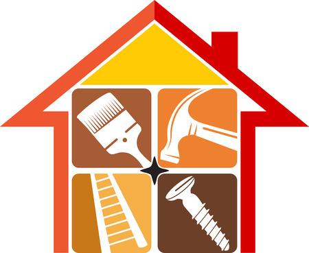 Illustration pour Illustration art of a home repair   - image libre de droit