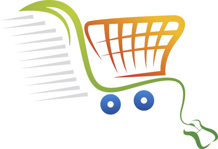 Ilustración de Illustration art of a online purchase logo with isolated background - Imagen libre de derechos