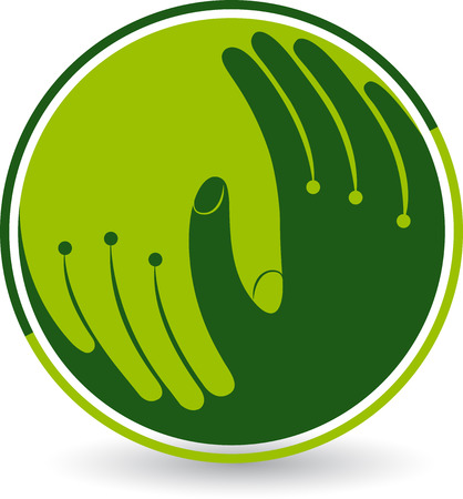 Illustration for Illustration art of a hand care icon with isolated background - Royalty Free Image