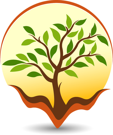 Ilustración de Illustration art of a care tree icon with isolated background - Imagen libre de derechos