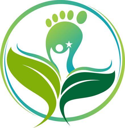 Ilustración de Illustration art of a Ayurveda footprint icon with isolated background - Imagen libre de derechos