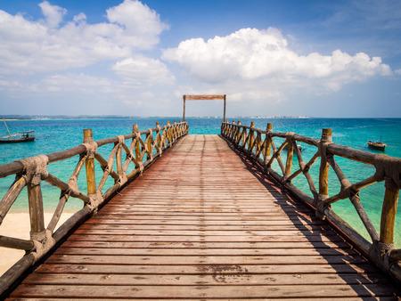 Photo for Pier on Prison Island, Zanzibar, Tanzania. - Royalty Free Image