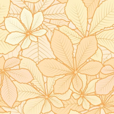 Autumn leaves, light seamless pattern